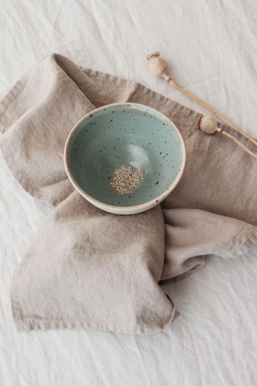 Marinski Handmade Ceramic Bowl - Mint