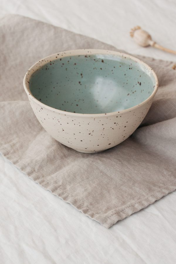 Marinski Handmade Ceramic Bowl - Mint