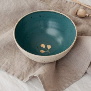 Marinski Handmade Ceramic Bowl - Dark Green