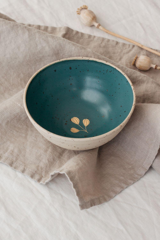 Marinski Handmade Ceramic Bowl - Teal