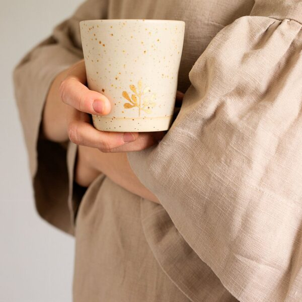 Marinski Handmade Ceramic Cup - Cream