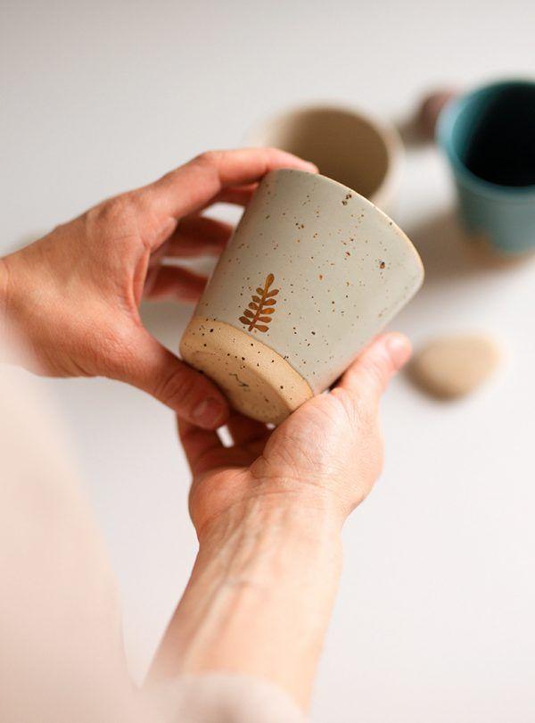 Marinski Handmade Ceramic Cup - Mint