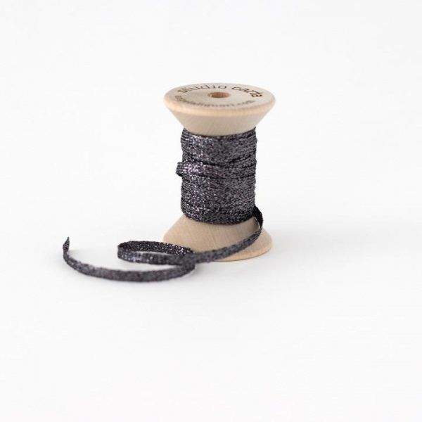 Studio Carta Metallic Braided Ribbon - Gravel