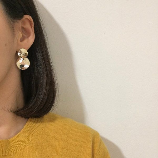 Lune Dorée Gold Earrings
