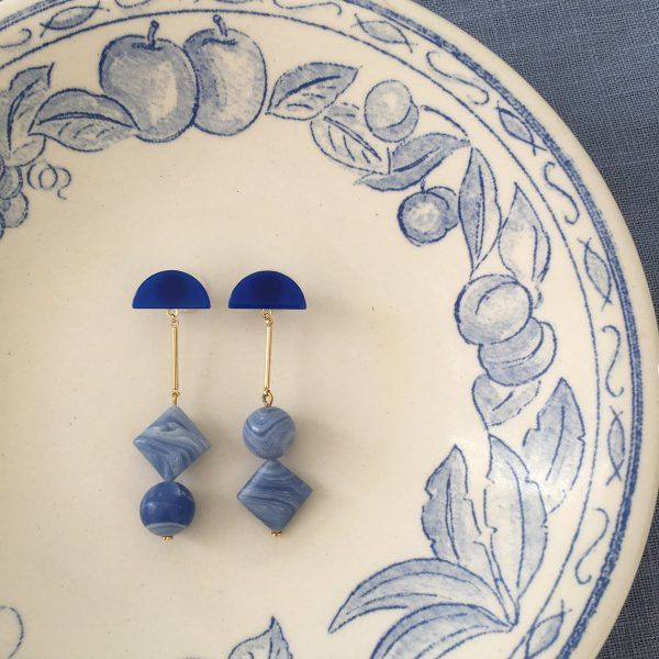 Blue Lace Agate Gemstone Earrings