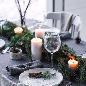 Grey Linen Tablecloth