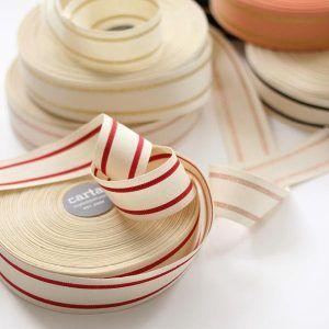 Studio Carta Striped Cotton Ribbon 40 meters