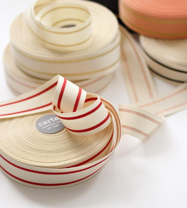 Studio Carta Striped Cotton Ribbon 40 meters