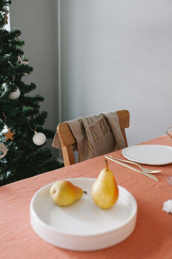 Terracotta Linen Tablecloth