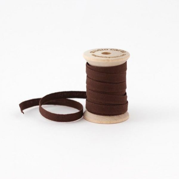 Studio Carta Wood Spool Cotton Ribbon - Chocolate