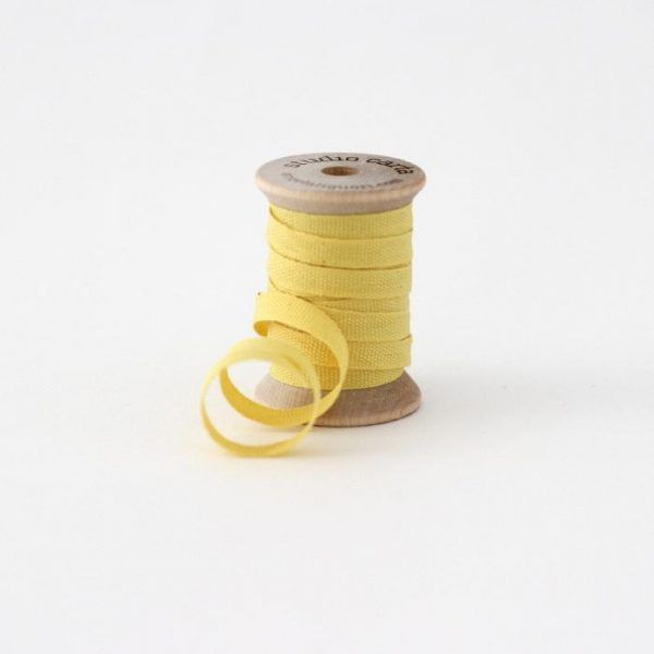 Studio Carta Wood Spool Cotton Ribbon - Lemon