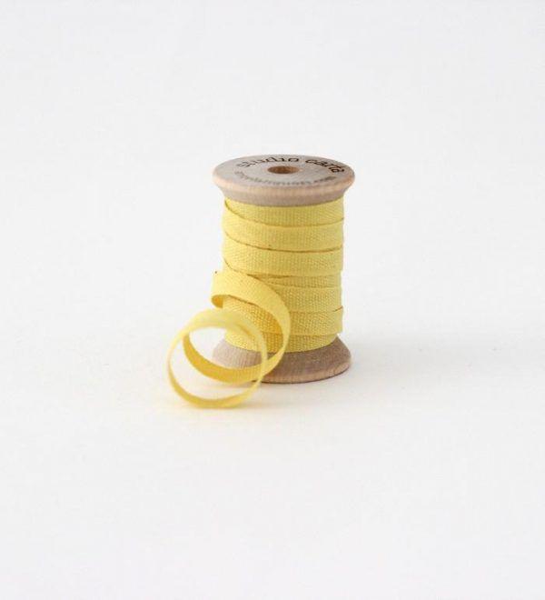 Studio Carta Wood Spool Cotton Ribbon - Lemon