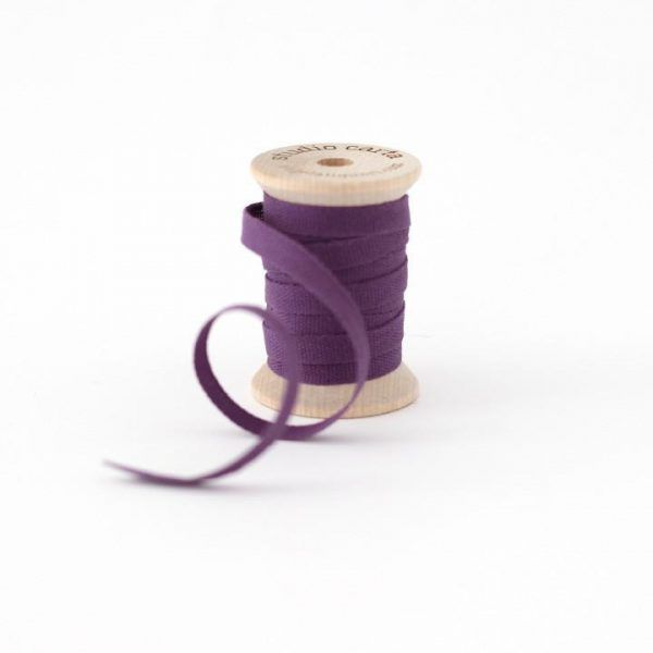 Studio Carta Wood Spool Cotton Ribbon - Plum