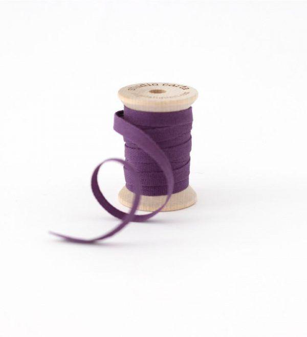Studio Carta Wood Spool Cotton Ribbon - Plum