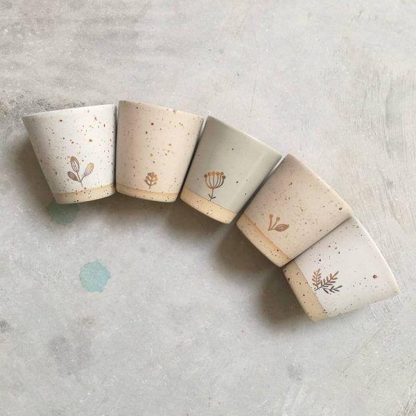 Marinski Handmade Ceramic Cup - White