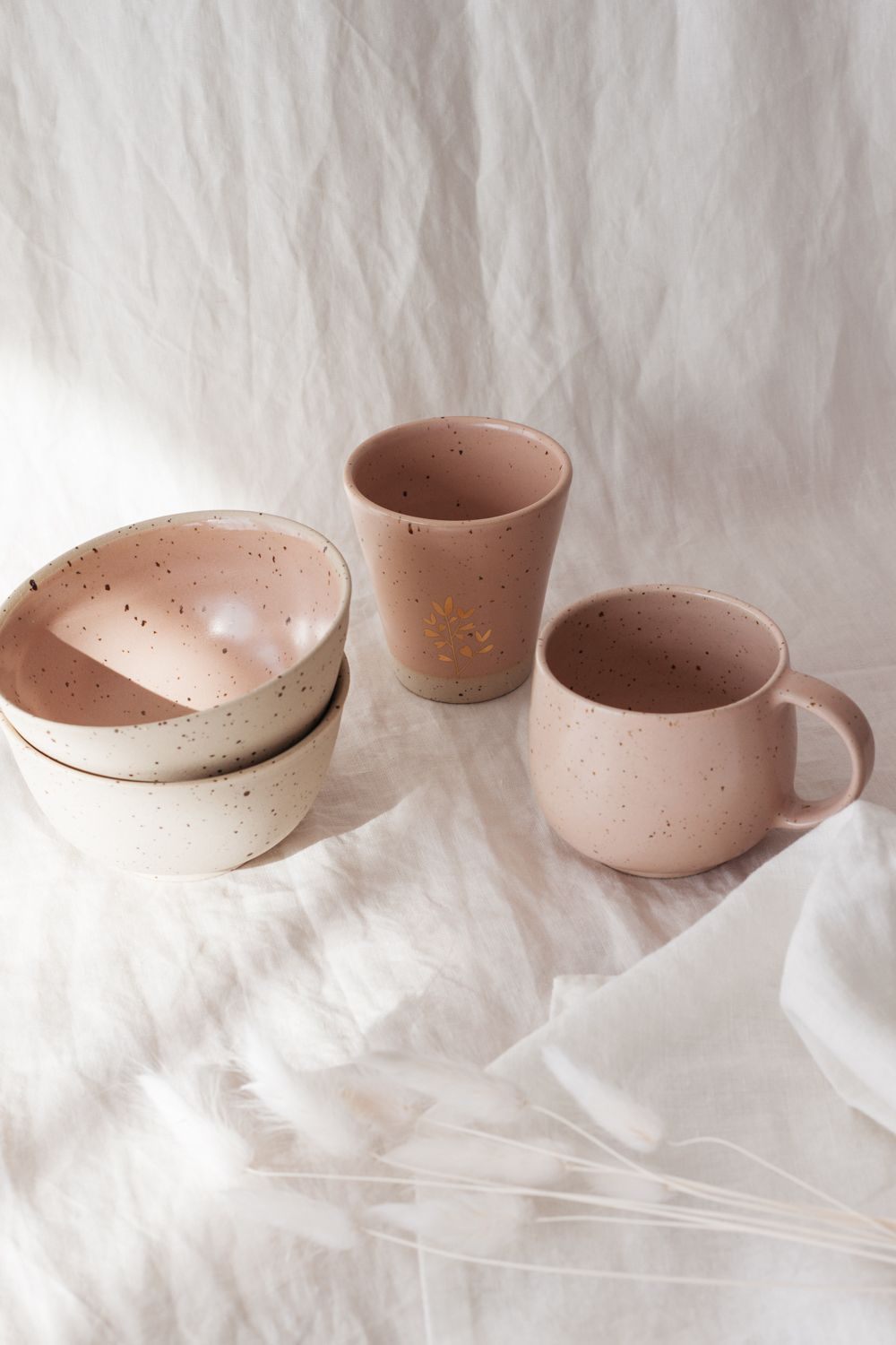 Marinski Handmade Ceramic Bowl - Blush