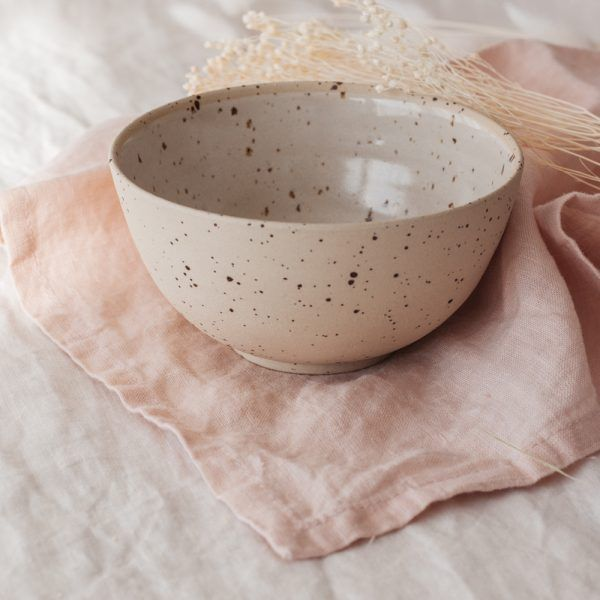 Marinski Handmade Ceramic Bowl - Cream