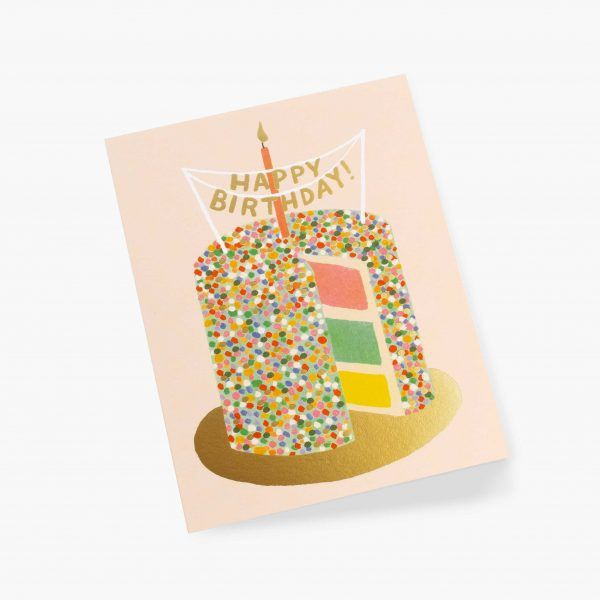 """Rifle Paper Co. """"Layer Cake Birthday"""" Greeting Card"""