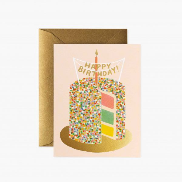 "Rifle Paper Co. ""Layer Cake Birthday"" Greeting Card"