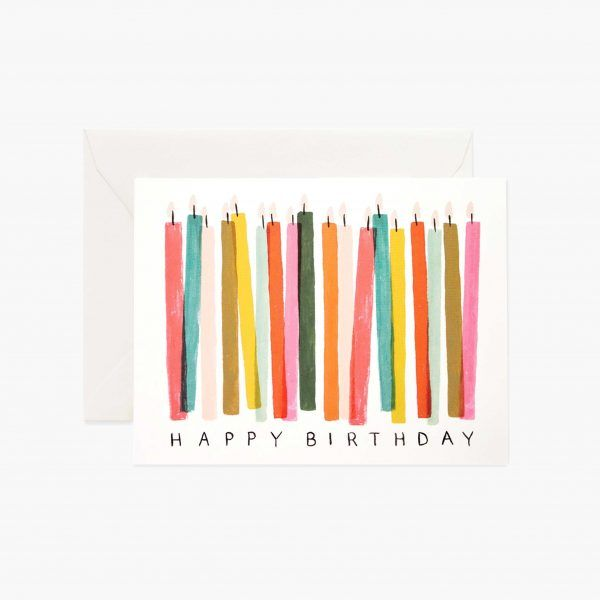 "Rifle Paper Co. ""Birthday Candles"" Greeting Card"