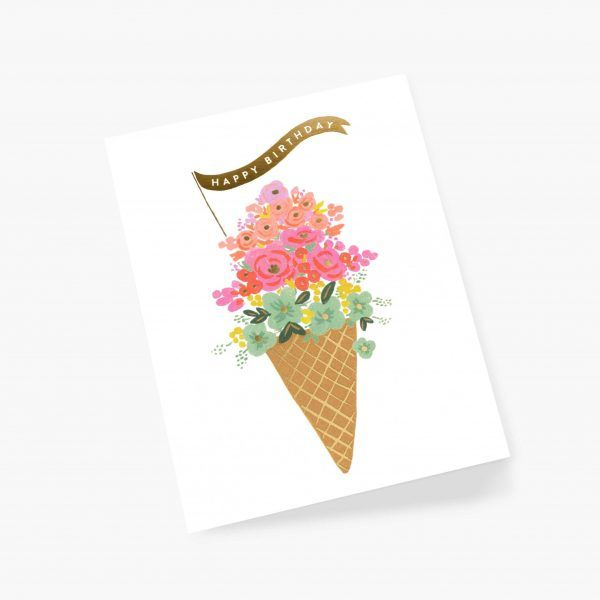 "Rifle Paper Co. ""Ice Cream Birthday"" Greeting Card"