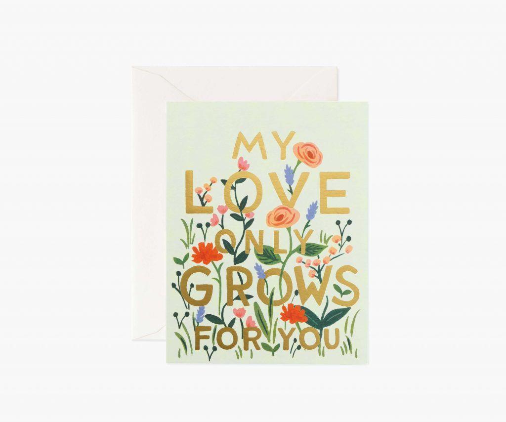 "Rifle Paper Co. ""Love Grows"" Love Card"