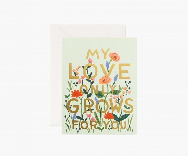 "Rifle Paper Co. ""Love Grows"" Love Card"