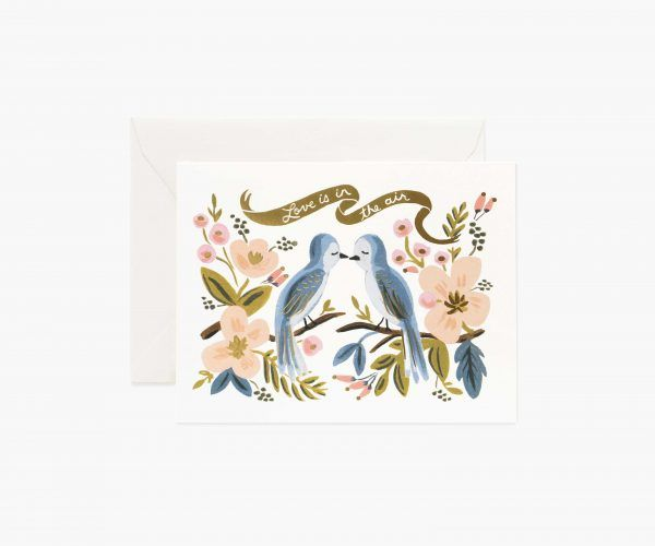 "Rifle Paper Co. ""Love is in the Air"" Greeting Card"
