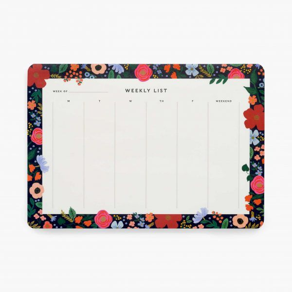 "Rifle Paper Co. ""Wild Rose"" Weekly Desk Pad"