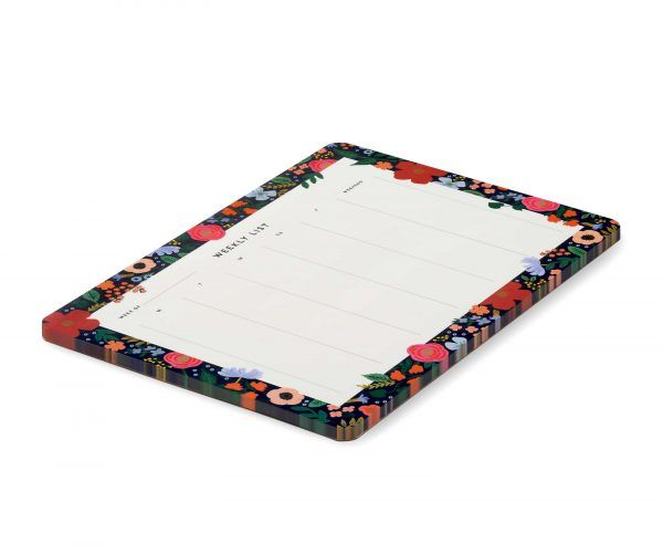 """Rifle Paper Co. """"Wild Rose"""" Weekly Desk Pad"""