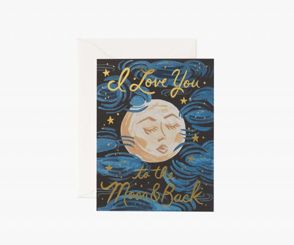 """Rifle Paper Co. """"To the Moon and Back"""" Love Card"""