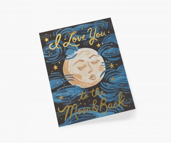 "Rifle Paper Co. ""To the Moon and Back"" Love Card"