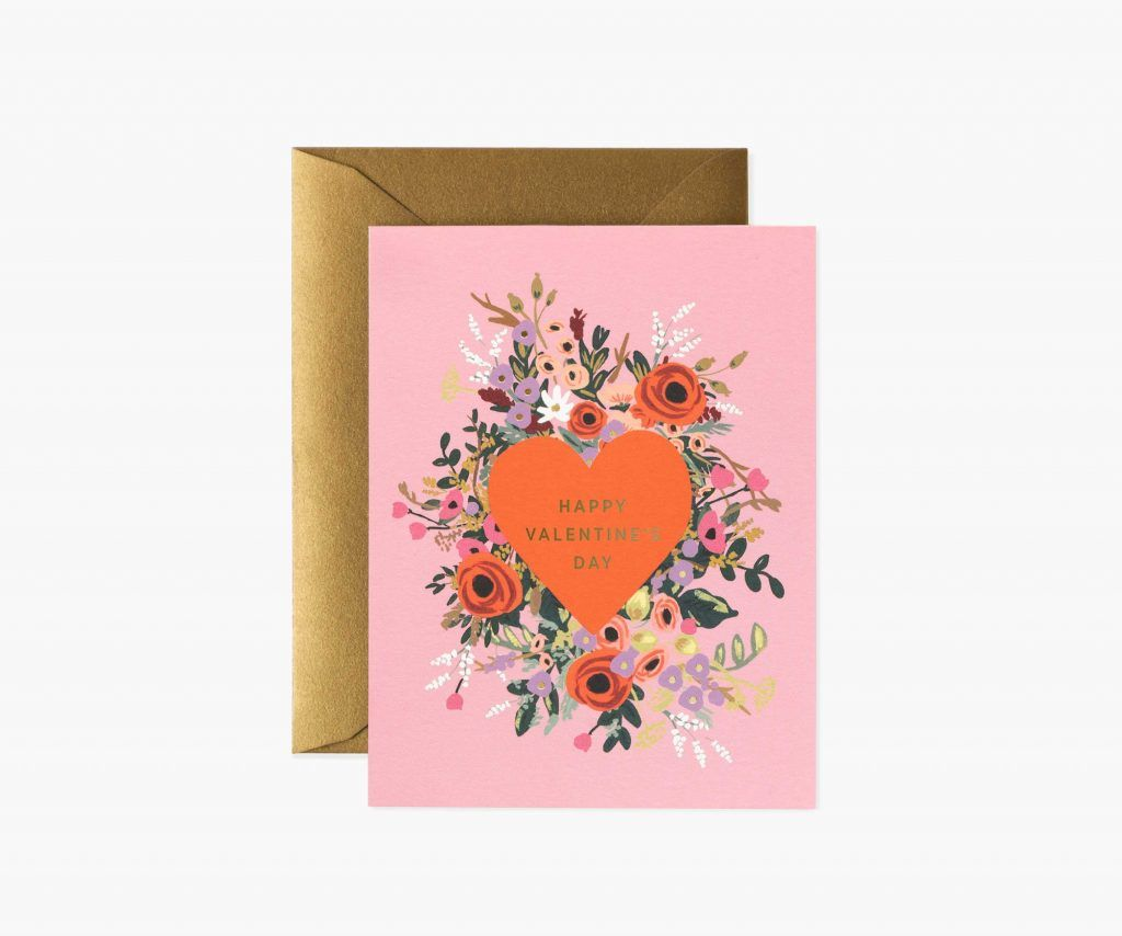 """Rifle Paper Co. """"Blooming Heart"""" Valentine's Day Card"""