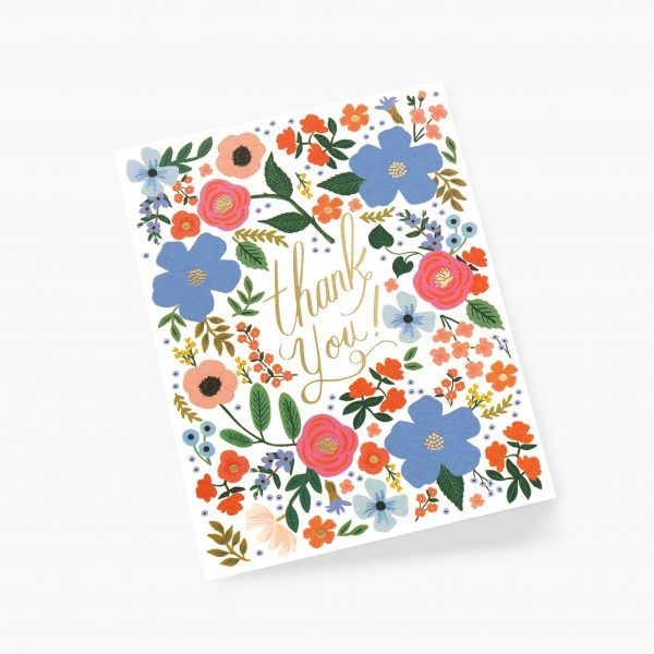 "Rifle Paper Co. ""Wild Rose"" Thank You Card"