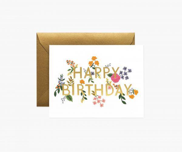 "Rifle Paper Co. ""Wildwood Birthday"" Greeting Card"