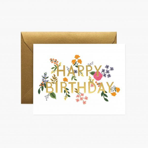 "Rifle Paper Co. ""Wildwood Birthday"" Greeting Card"