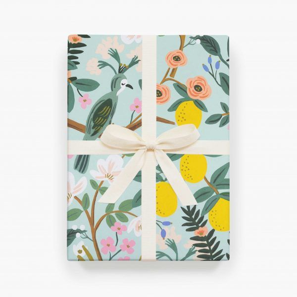 "Rifle Paper Co. ""Shanghai Garden"" Wrapping Paper Sheet"