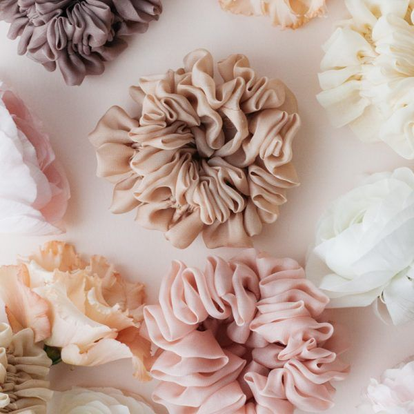 Silk Hair Scrunchie - Powder