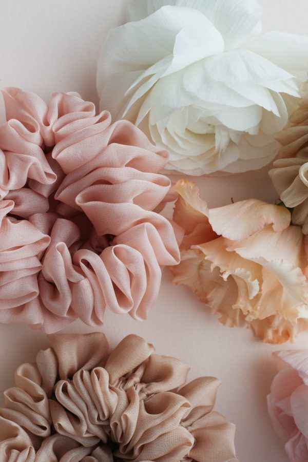 Silk Hair Scrunchie - Blush