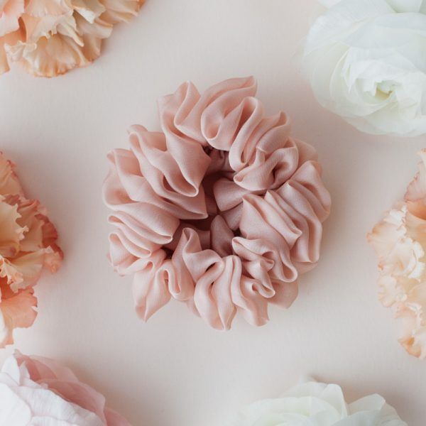 Silk Hair Scrunchie - Blush