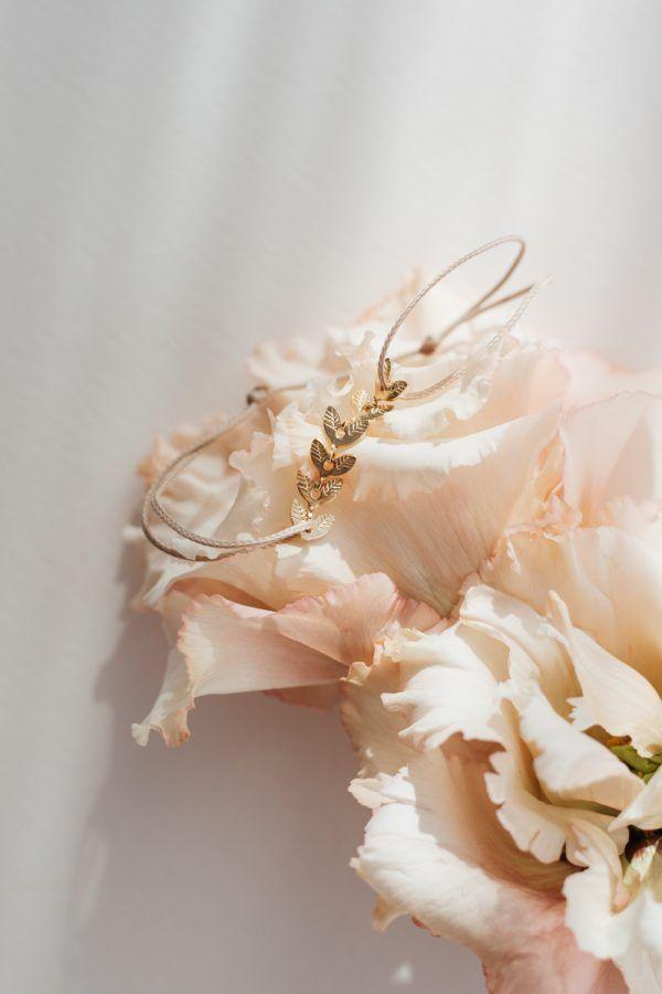 White Leaf Thread Bracelet