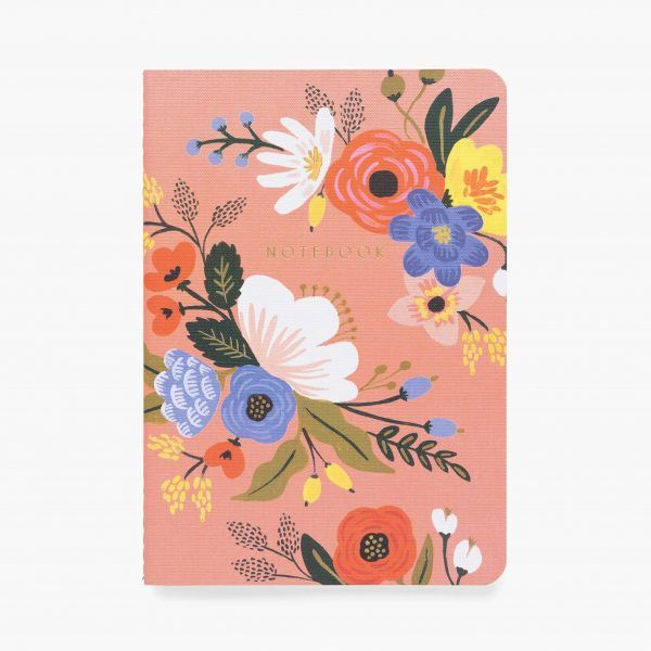 """""""Lively Floral"""" Stitched Notebook Set of 3"""