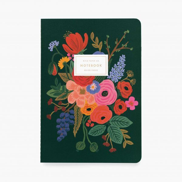 """Garden Party"" Stitched Notebook Set of 3"