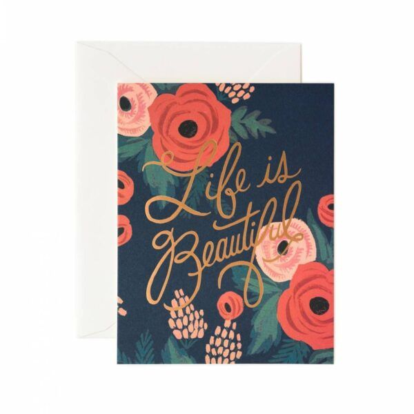 "Rifle Paper Co. ""Life Is Beautiful"" Greeting Card"