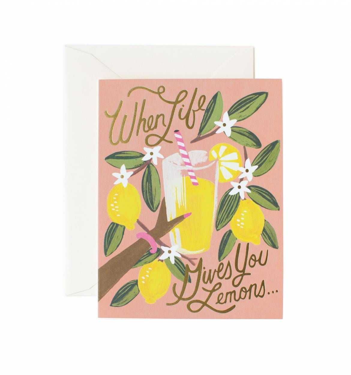 """Rifle Paper Co. """"When Life Gives You Lemons"""" Greeting Card"""