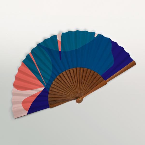"""Amalfi """"Ginkgo Pop"""" Handmade Folding Fan"""