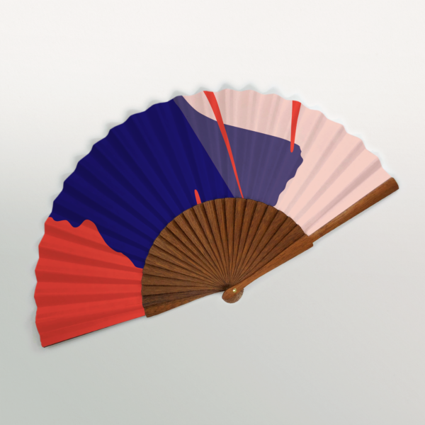 "Paris ""Ginkgo Pop"" Handmade Folding Fan"