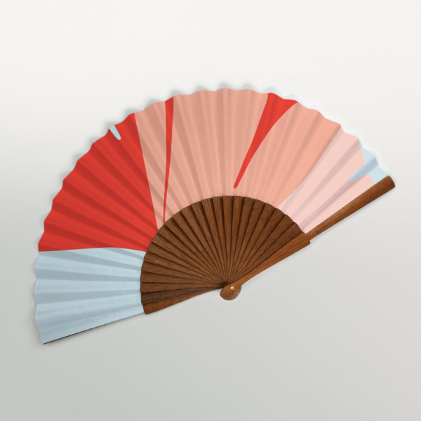 "Valencia ""Ginkgo Pop"" Handmade Folding Fan"
