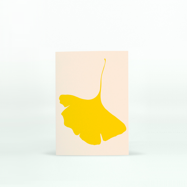"Common Modern ""Ginkgo Pop"" Mini Card - No.6"
