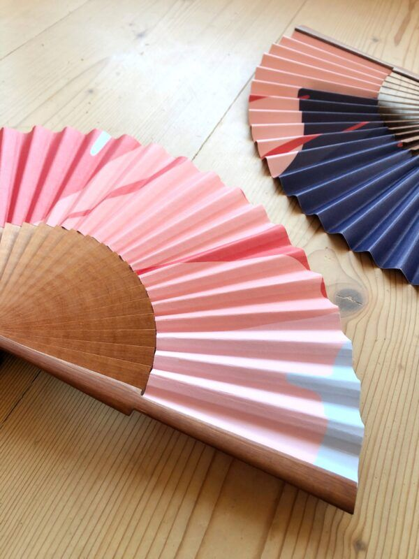 """Ginkgo Pop"" Handmade Folding Fan"